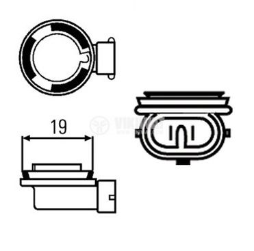 Автомобилна халогенна лампа H9 - 2