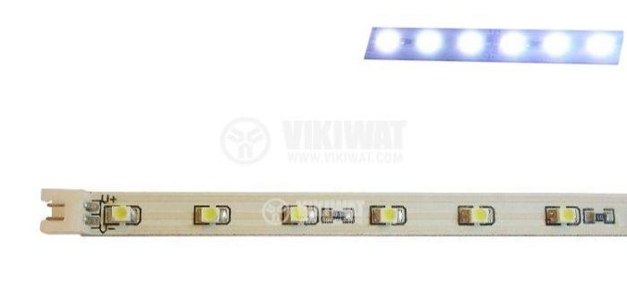 LED модул SMD3528, 30led, 2.4W, 12VDC, невлагозащитен, студено бял