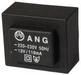 Tрансформатор за печатен монтаж 13 VAC, 1.3 VA