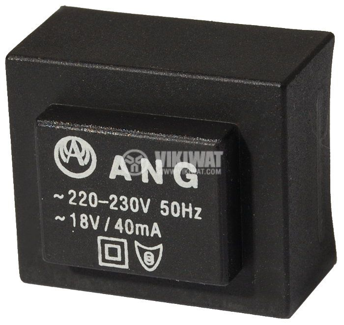 Tрансформатор за печатен монтаж 18 VAC, 1.3 VA - 1