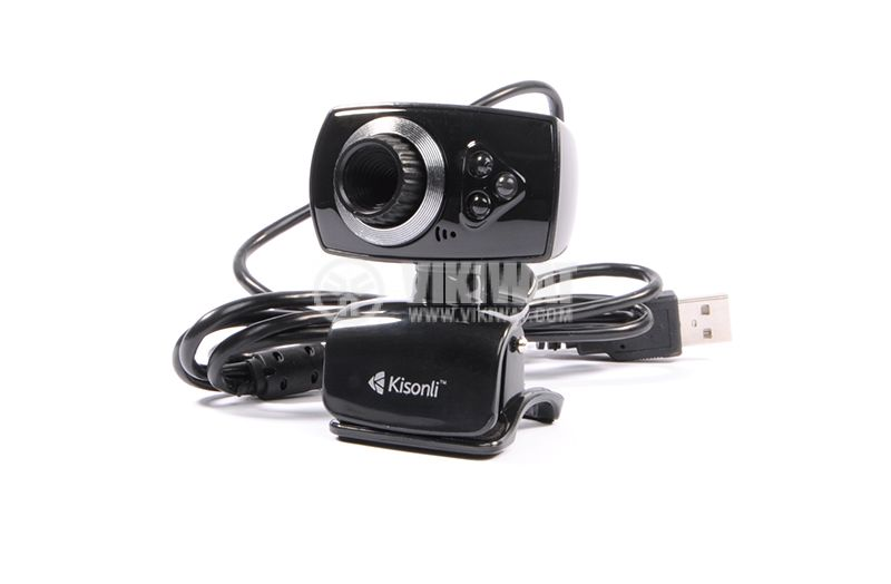 Web camera, Kisonli U-5, USB, LED light with pinch - 1