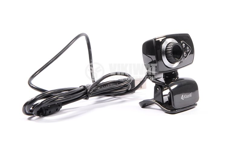 Web camera, Kisonli U-5, USB, LED light with pinch - 2
