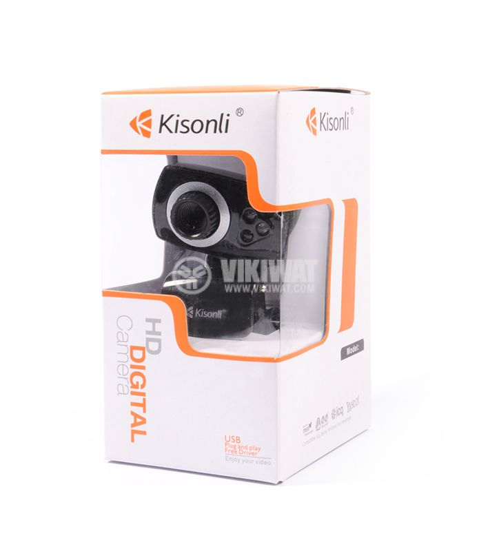 Web camera, Kisonli U-5, USB, LED light with pinch - 4