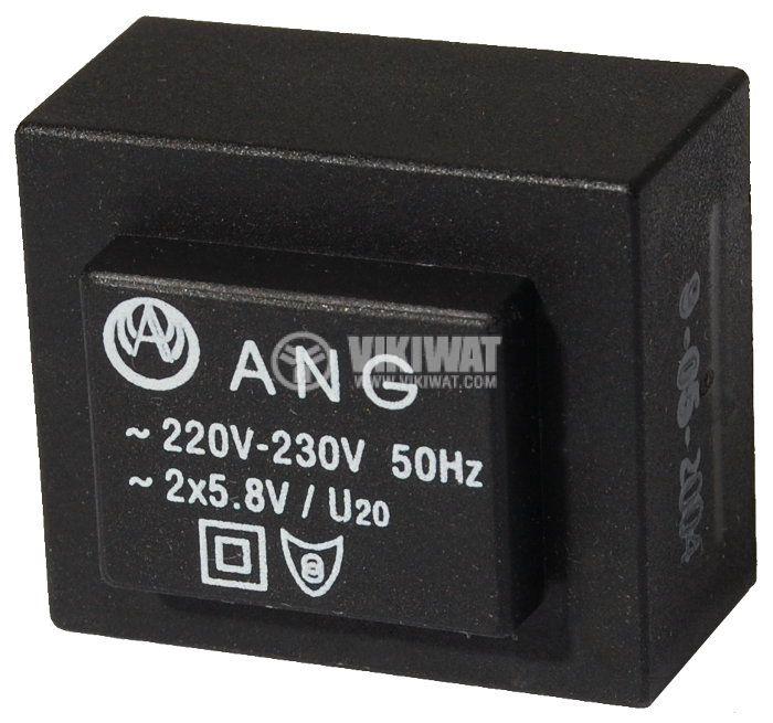 Tрансформатор за печатен монтаж 2 x 5.8 VAC, 1.3 VA - 1