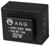 PCB transformer 2 x 5.8 VAC, 1.3 VA