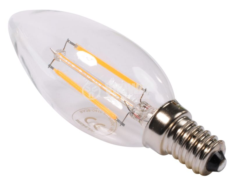 LED Bulb BA38-0410, 4W, 220VAC, E14, warm white - 3
