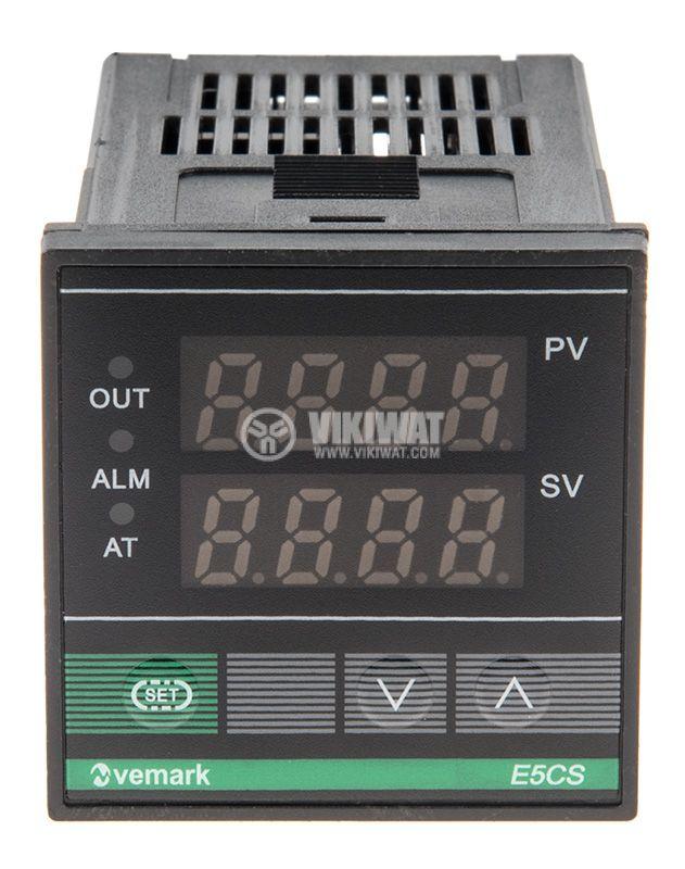 Temperature controller E5CS, 220VAC, 0 -400°C, type K, relay output - 1
