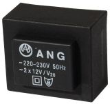 Tрансформатор за печатен монтаж 2 x 12 VAC, 1.3 VA