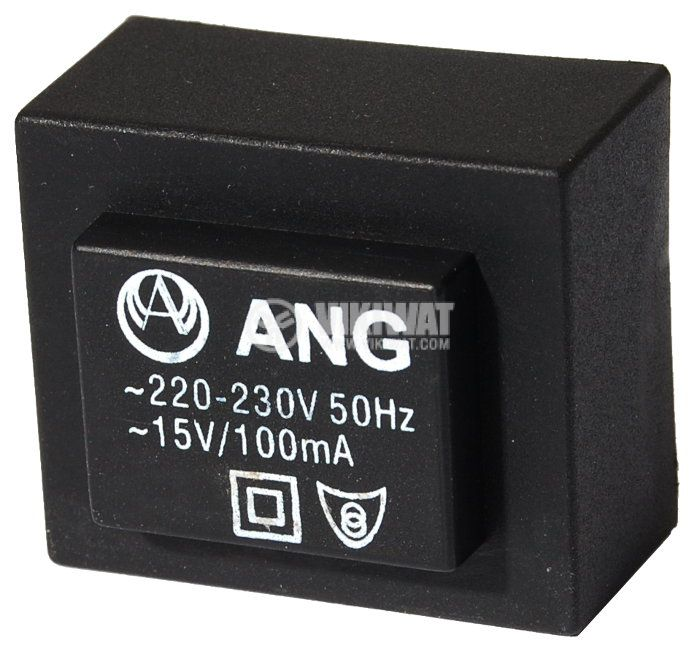 Tрансформатор за печатен монтаж 15 VAC, 1.5 VA - 1