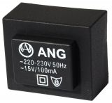 Tрансформатор за печатен монтаж 15 VAC, 1.5 VA