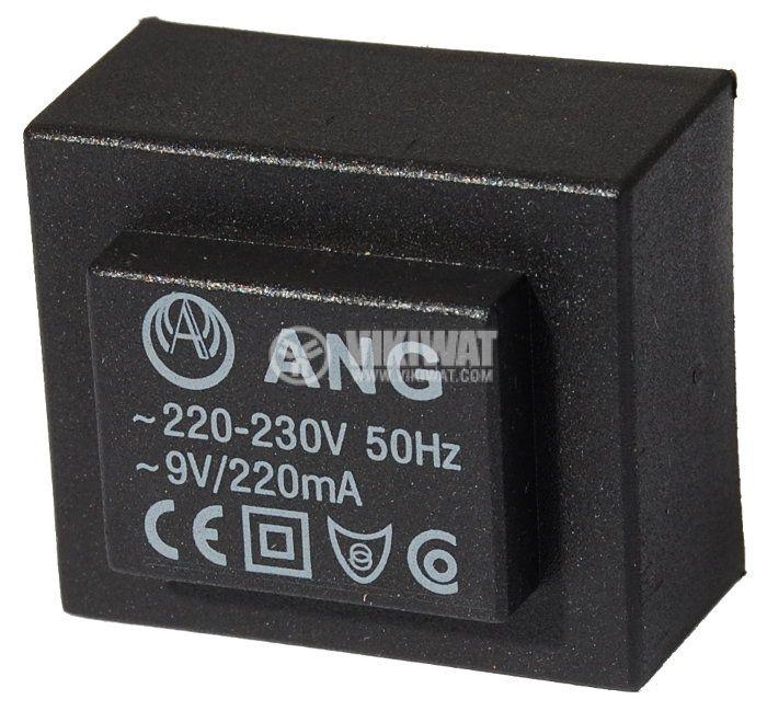 Tрансформатор за печатен монтаж 230 / 9 VAC, 2 VA - 1