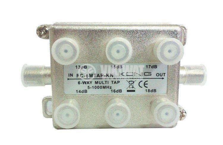 Сплитер (тап), FC-6MTAP-KN, 5-1000MHz