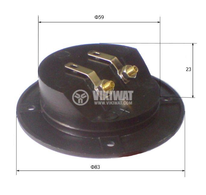 Клема за тонколони кръгла GT1-4048A - 3