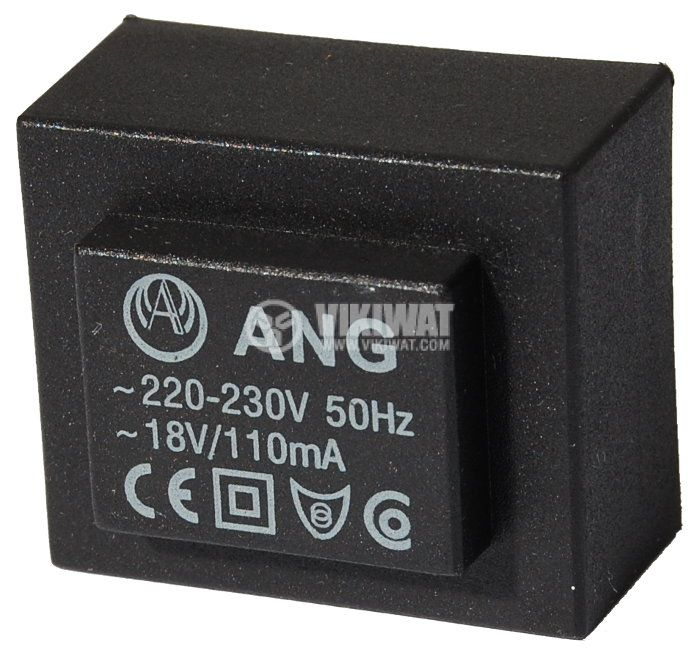 Tрансформатор за печатен монтаж 230 / 18 VAC, 2 VA   - 1