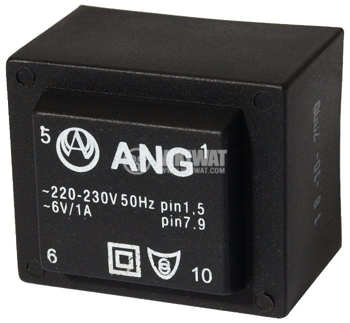 Tрансформатор за печатен монтаж 230 / 6 VAC, 6 VA - 1