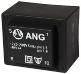 PCB Transformer 230/6 VAC, 6 VA