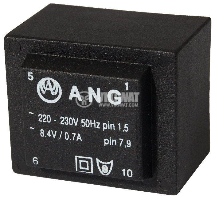 Tрансформатор за печатен монтаж 230 / 8.4 VAC, 6 VA - 1