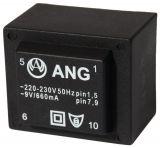 PCB Transformer 230/9 VAC, 6 VA