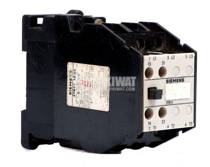 Contactor, three-pole, coil  24VAC, 3PST - 3NO, 22.5A, 3TB43 12-0A, NO+NC - 1