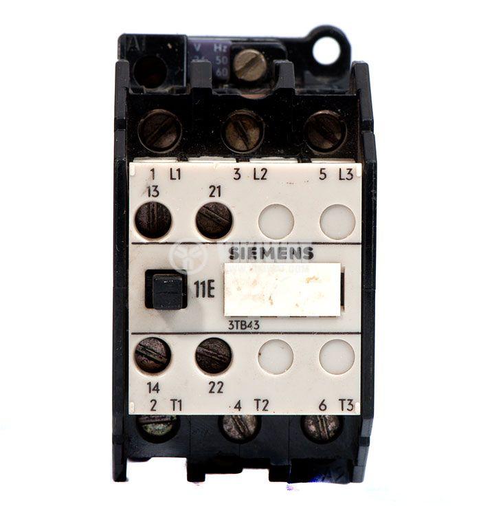 Contactor, three-pole, coil  24VAC, 3PST - 3NO, 22.5A, 3TB43 12-0A, NO+NC - 2