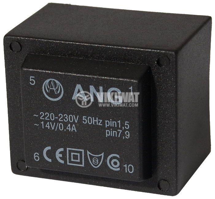 Tрансформатор за печатен монтаж 230 / 14 VAC, 6 VA - 1