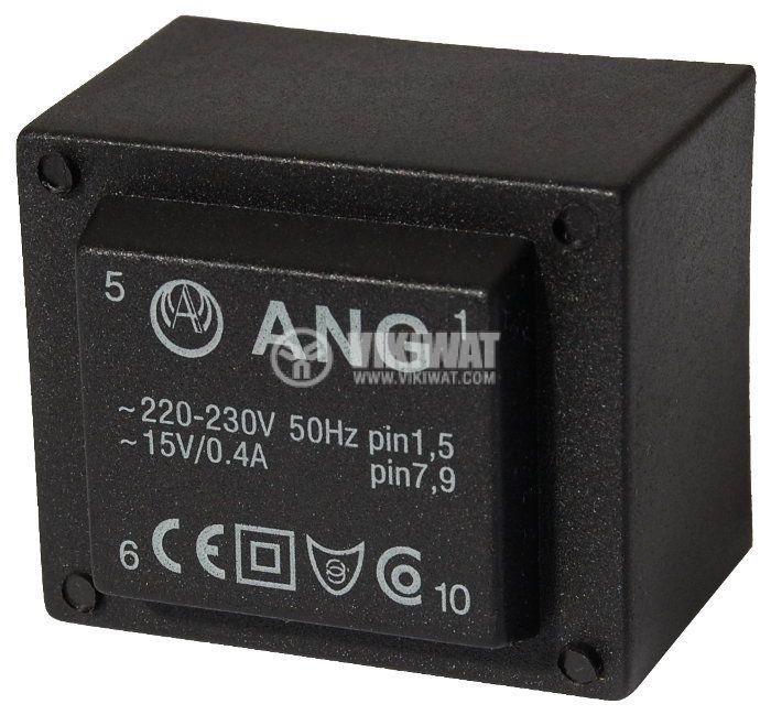 Tрансформатор за печатен монтаж 230 / 15 VAC, 6 VA - 1