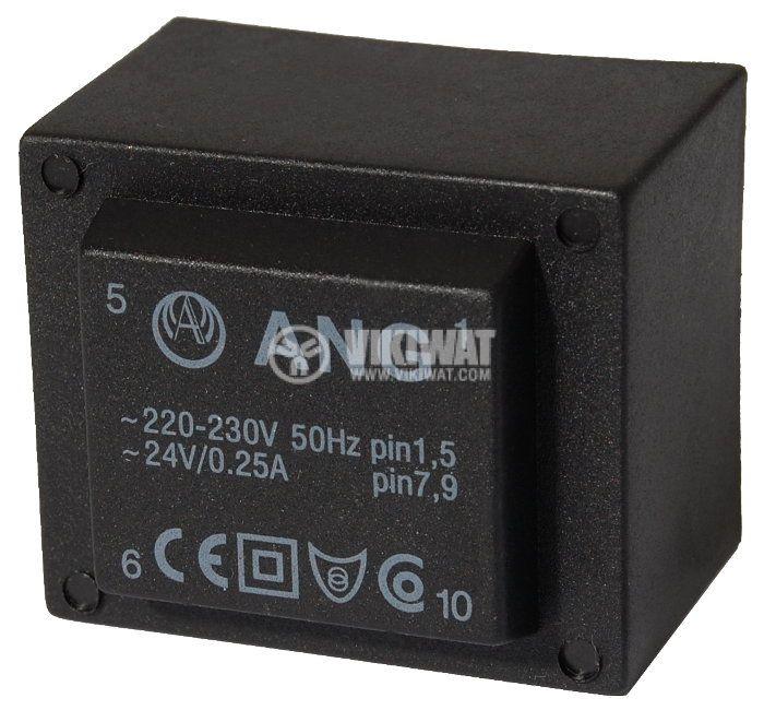 Tрансформатор за печатен монтаж 230 / 24 VAC, 6 VA - 1