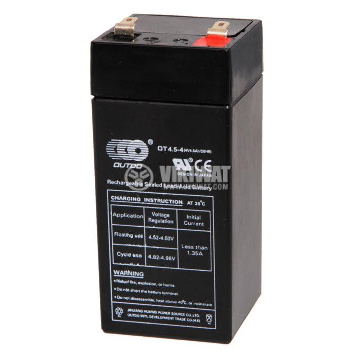 Тягов акумулатор 4V, 4.5Ah, OT4-4, гелов