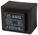 PCB Transformer 230/ 2 x 9 VAC, 6 VA