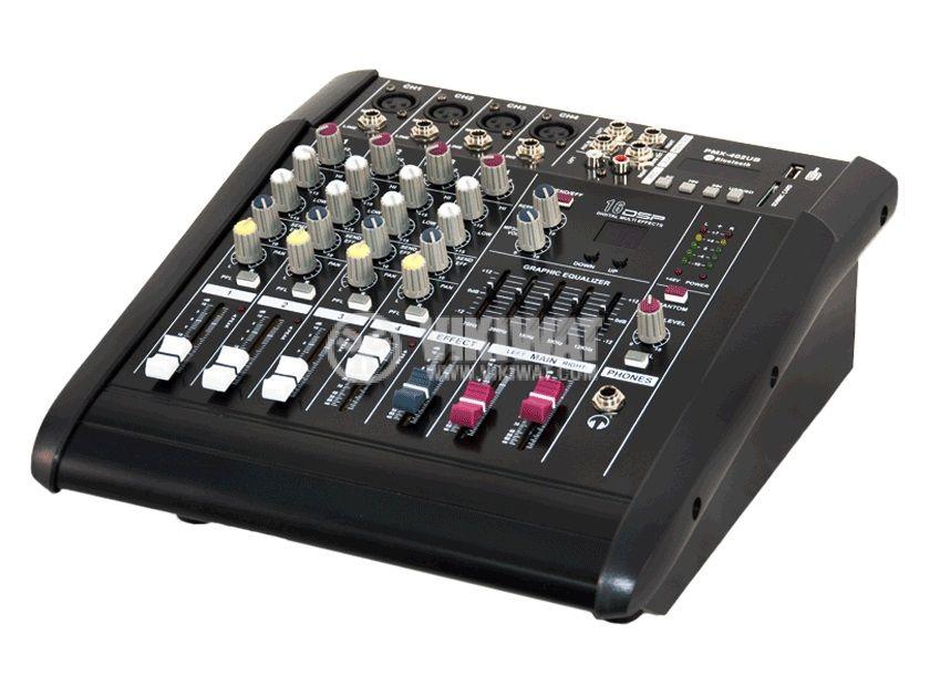 Професионален миксер MPX-402UB, 4-канален, Bluetooth, USB, MP3, FM радио, 2х150W - 1