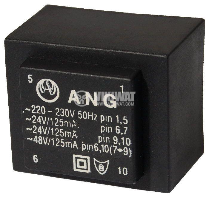 Tрансформатор за печатен монтаж 230 / 2 х 24 VAC, 6 VA - 1
