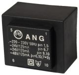 PCB Transformer 230/ 2 x 24 VAC, 6 VA