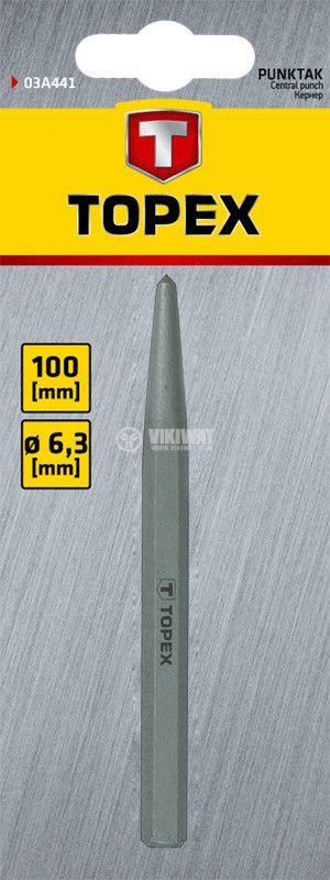 Шлосерски център 6.3 x 100 mm - 2