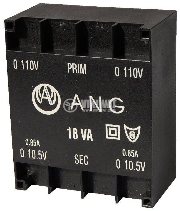 Tрансформатор за печатен монтаж 2 x 10.5 VAC, 18 VA - 1