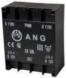 PCB Transformer 2 x 12 VAC, 18 VA