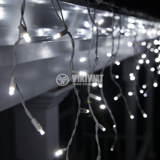 LED christmas lights type pendants 3x1m, 13.8W, cool white, IP44, 228 LEDs - 5