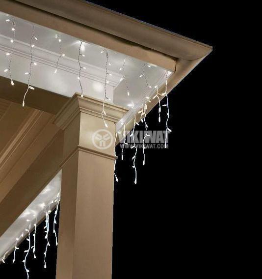 LED christmas lights type pendants 3x1m, 13.8W, cool white, IP44, 228 LEDs - 6