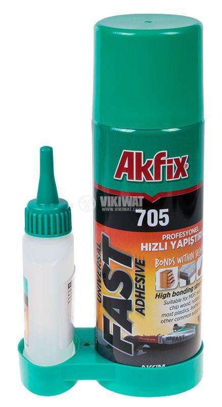 Two component glue Akfix 705, 200 ml - 1