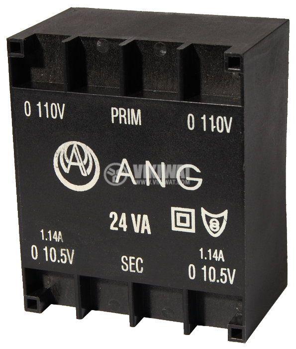 Tрансформатор за печатен монтаж 230 / 2 x 10.5 VAC, 24 VA - 1