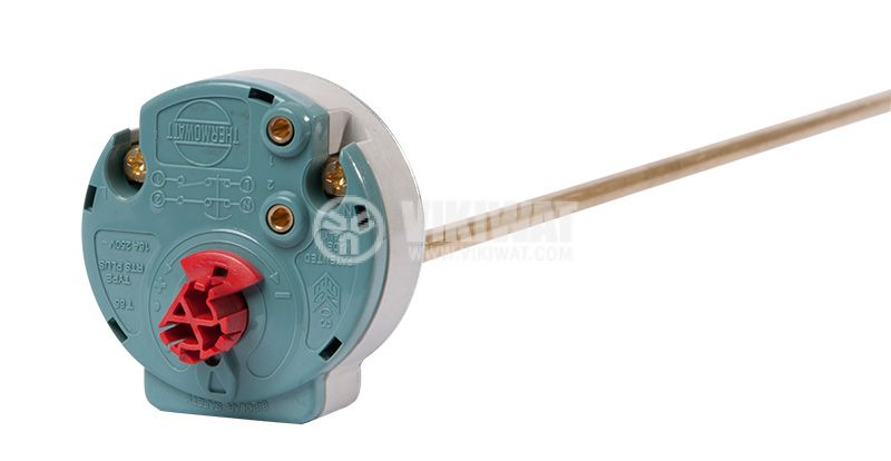 Thermostat for boiler RTS3 Ariston, +40°C/+80°C, 2NC, 20A/250VAC, probe 440mm - 3