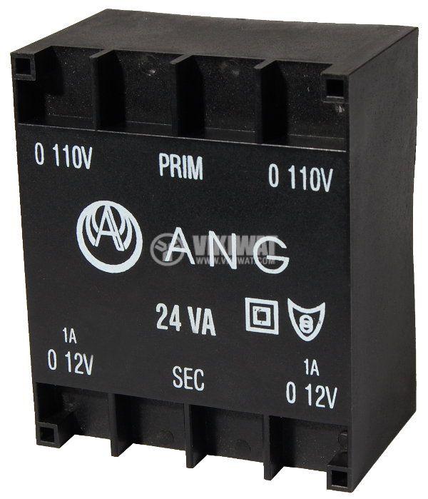 Tрансформатор за печатен монтаж 230 / 2 x 12 VAC, 24 VA - 1