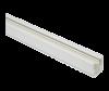 Шина, двупроводна, за LED прожектор, 1m, бяла, 220VAC, BY40-00110 - 1