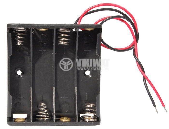 Държач за батерии, AAAx4 - 1