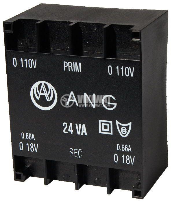 Tрансформатор за печатен монтаж 230 / 2 x 18 VAC, 24 VA - 1