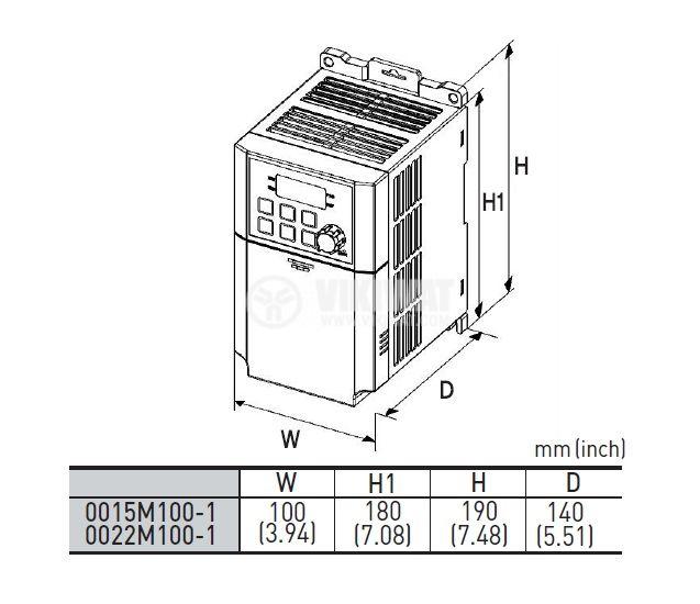 Frequency inverter LSLV0015M-100-1EOFNS - 3