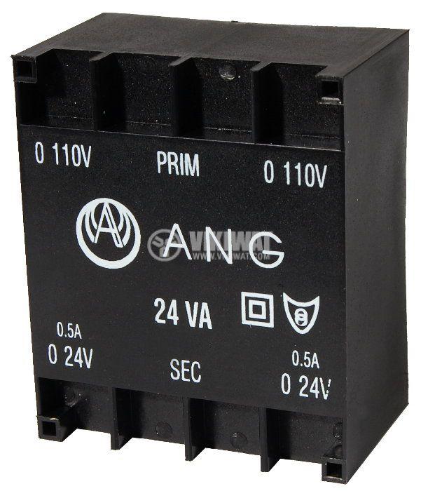 Tрансформатор за печатен монтаж 230 / 2 x 24 VAC, 24 VA - 1