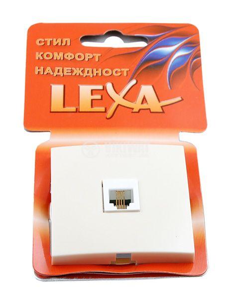 Телефонна розетка LM60033 4P4C, кремав цвят