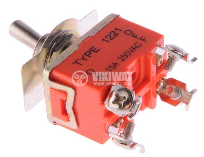 Toggle switch 15А/250VAC ON-OFF DPST - 2