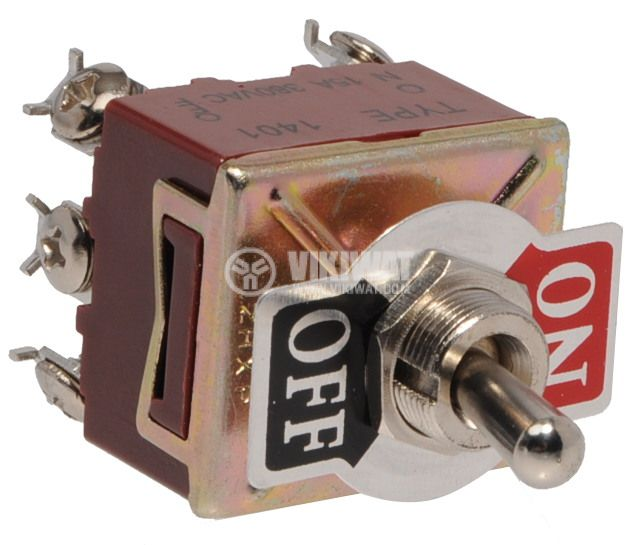 Toggle switch XT-22B 15А/250VAC ON-OFF DPDT - 2