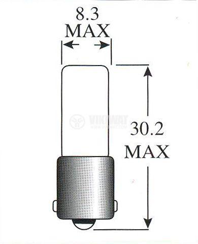 Специална лампа, 28 V, 40 mA, BA9s - 2